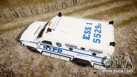 Lenco BearCat NYPD ESU [ELS] para GTA 4 visión correcta