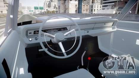 Dodge Dart HEMI Super Stock 1968 rims4 para GTA 4 vista hacia atrás
