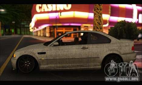 BMW M3 E46 para GTA San Andreas vista posterior izquierda