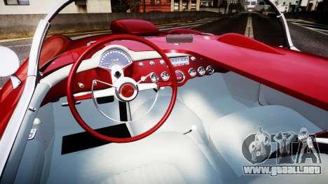 Chevrolet Corvette C1 1953 race para GTA 4 vista hacia atrás