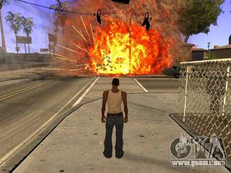 New Realistic Effects 4.0 Full Final Version para GTA San Andreas sucesivamente de pantalla