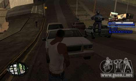C-HUD SAPD para GTA San Andreas tercera pantalla