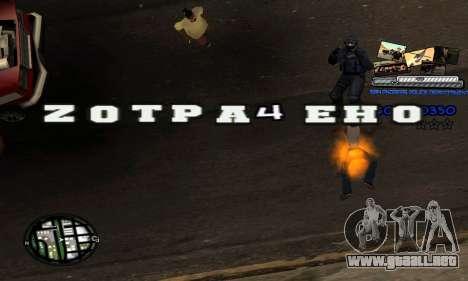 C-HUD SAPD para GTA San Andreas sucesivamente de pantalla
