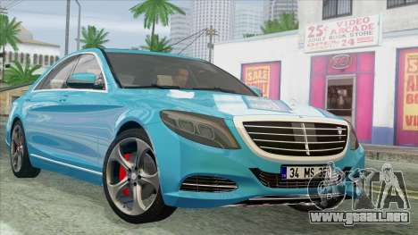 Mercedes-Benz S350 2015 Bluetec para GTA San Andreas
