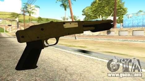 Sawnoff Shotgun from GTA 5 para GTA San Andreas segunda pantalla