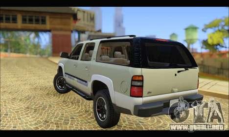 GMC Yukon XL 2003 v.2 para GTA San Andreas vista posterior izquierda