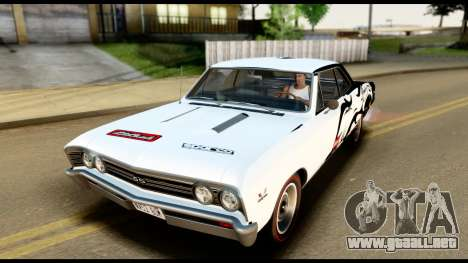 Chevrolet Chevelle SS 396 L78 Hardtop Coupe 1967 para el motor de GTA San Andreas