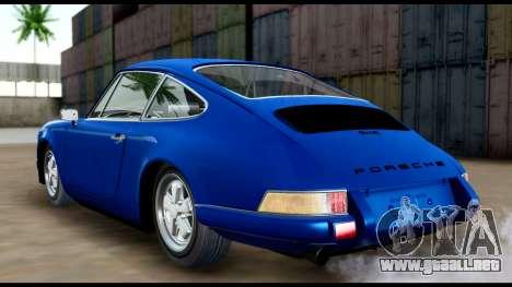 Porsche 911 Carrera 2.7RS Coupe 1973 Tunable para GTA San Andreas vista posterior izquierda