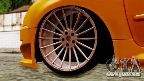 Peugeot 206 Camber Style para GTA San Andreas vista posterior izquierda