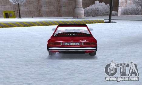 Fiat Bertone X1 9 para la visión correcta GTA San Andreas