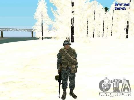 Las fuerzas especiales de la Federación de rusia para GTA San Andreas segunda pantalla