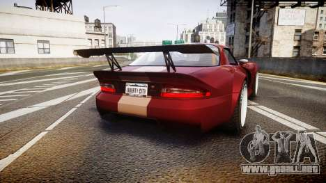 Bravado Banshee GTA V Style para GTA 4 Vista posterior izquierda