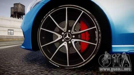 Mercedes-Benz C250 AMG (W205) 2015 para GTA 4 vista hacia atrás