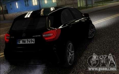 Mercedes-Benz A45 AMG para GTA San Andreas vista posterior izquierda