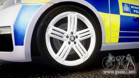 Skoda Octavia Combi vRS 2014 [ELS] Traffic Unit para GTA 4 vista hacia atrás