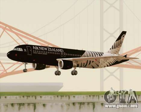 Airbus A320-200 Air New Zealand para GTA San Andreas left