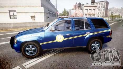 Chevrolet Trailblazer Virginia State Police ELS para GTA 4 left