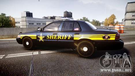 Ford Crown Victoria Sheriff [ELS] black para GTA 4 left