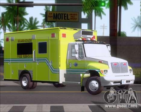 Pierce Commercial Miami Dade Fire Rescue 12 para GTA San Andreas left