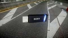 Unidad flash USB de Sony azul