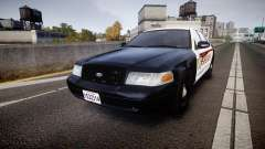 Ford Crown Victoria Sheriff [ELS] rims1 para GTA 4