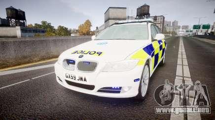 BMW 325d E91 2009 Sussex Police [ELS] para GTA 4