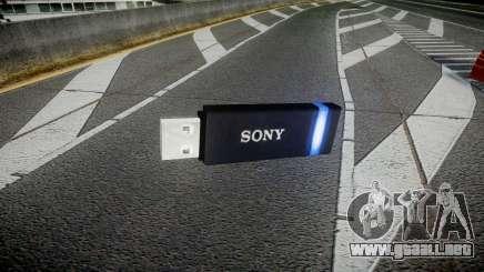 Unidad flash USB de Sony azul para GTA 4