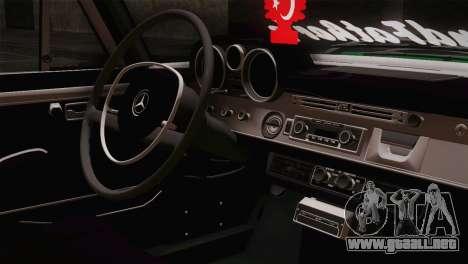 Mercedes-Benz 300 SEL DRY Garage para GTA San Andreas vista hacia atrás