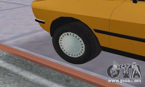 Renault 12 SW Taxi para la vista superior GTA San Andreas