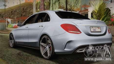 Mercedes-Benz C250 AMG Edition 2014 SA Plate para GTA San Andreas left