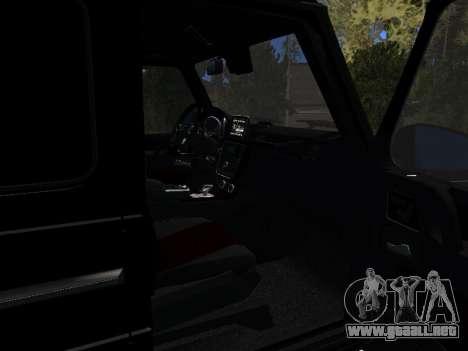 Mercedes-Benz G63 AMG para GTA San Andreas vista hacia atrás