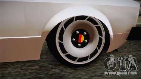 Volkswagen Caddy DRY Garage para GTA San Andreas vista posterior izquierda