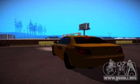 BMW M5 Gold para la visión correcta GTA San Andreas