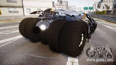 Batman tumbler [EPM] para GTA 4 Vista posterior izquierda