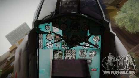 MIG 31 Estovakian Air Force para la visión correcta GTA San Andreas