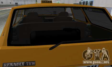 Renault 12 SW Taxi para vista inferior GTA San Andreas