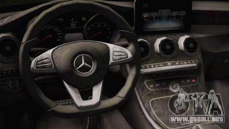 Mercedes-Benz C250 AMG Edition 2014 SA Plate para la visión correcta GTA San Andreas