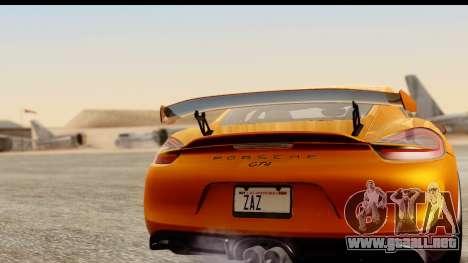 Porsche Cayman GT4 981c 2016 para la visión correcta GTA San Andreas