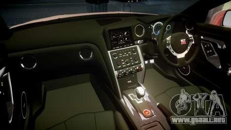 Nissan R35 GT-R V.Spec 2010 para GTA 4 vista interior
