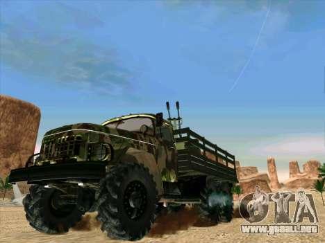 ZIL 131 Diablo Arba para GTA San Andreas vista posterior izquierda