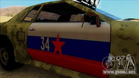 Elegy 23 February para GTA San Andreas vista hacia atrás