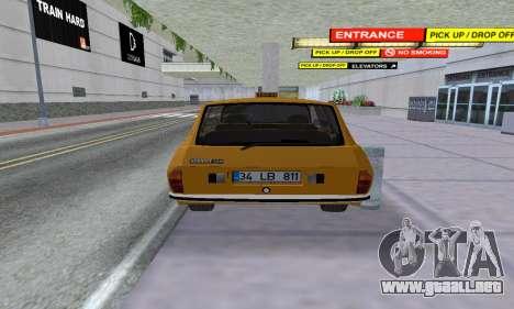 Renault 12 SW Taxi para GTA San Andreas vista hacia atrás