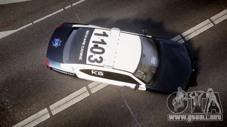 Dodge Charger 2010 LCPD K9 [ELS] para GTA 4 visión correcta