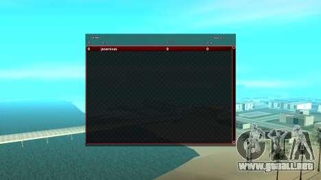 CGSA intercambio Automático SampGui para GTA San Andreas tercera pantalla