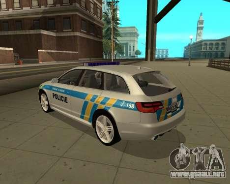 Audi RS6 Combi Police Czech Republic para GTA San Andreas left