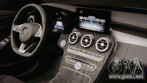 Mercedes-Benz C250 AMG Edition 2014 SA Plate para GTA San Andreas vista hacia atrás