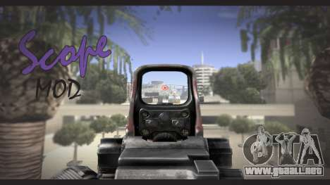 Sniper scope mod para GTA San Andreas