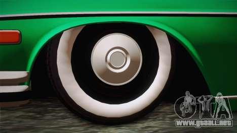 Mercedes-Benz 300 SEL DRY Garage para GTA San Andreas vista posterior izquierda