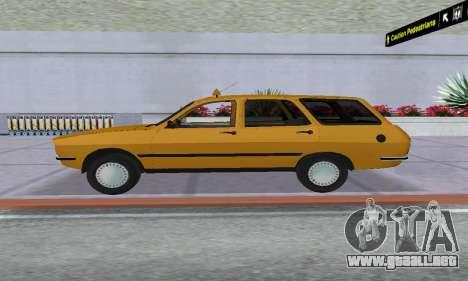 Renault 12 SW Taxi para GTA San Andreas vista posterior izquierda