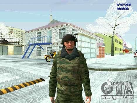 Luchador de la MIA en el invierno uniformes para GTA San Andreas tercera pantalla